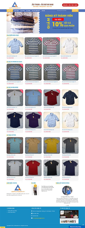 Mẫu giao diện website bán hàng, shop online 02