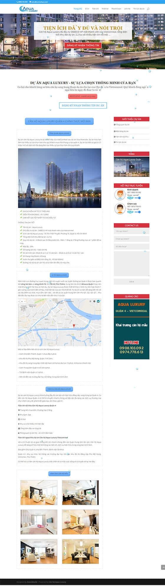 Mẫu giao diện website Bất động sản 01