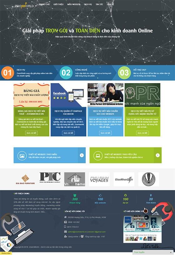 Mẫu giao diện website giới thiệu doanh nghiệp, công ty 01