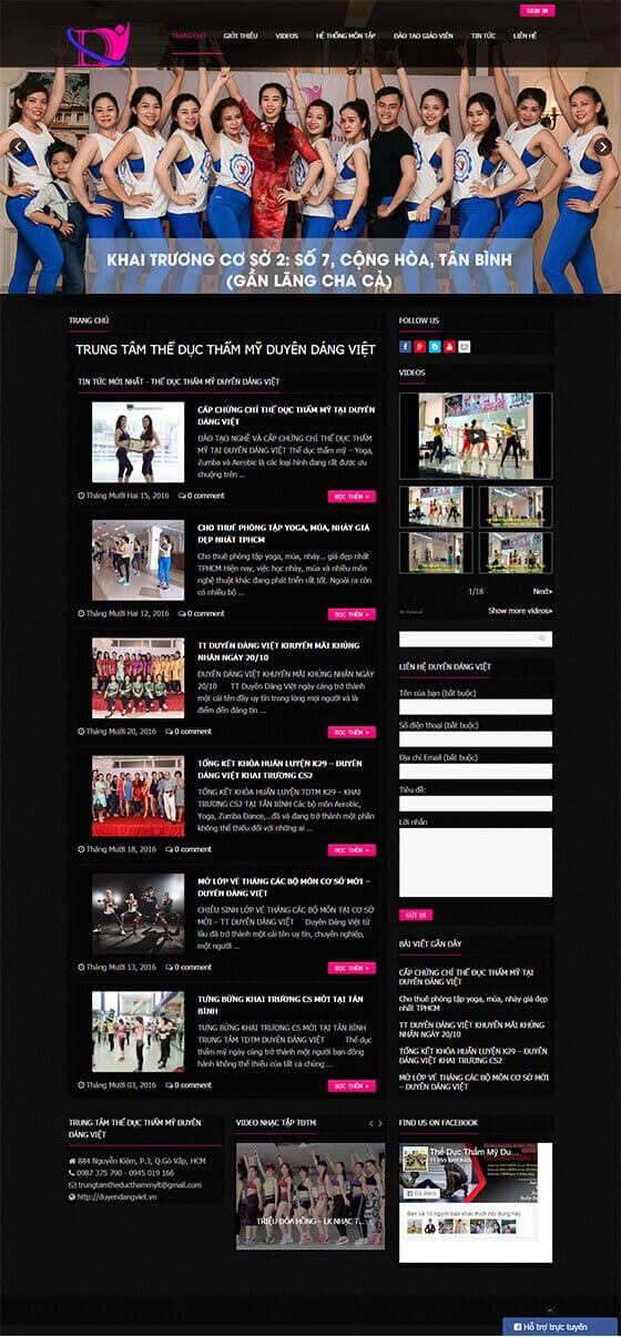 Mẫu website giới thiệu doanh nghiệp, spa, thẩm mỹ