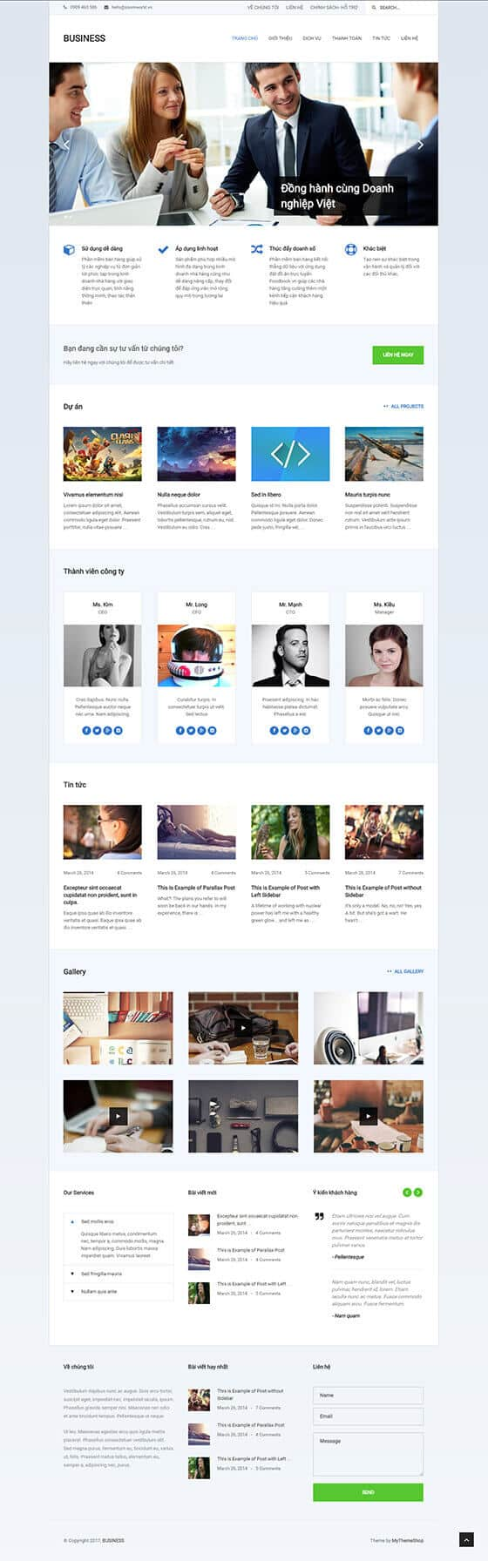 Mẫu website giới thiệu doanh nghiêp, công ty 02
