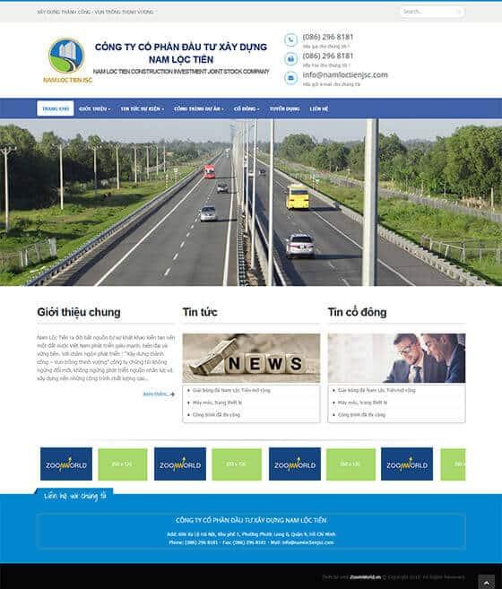 Mẫu website giới thiệu doanh nghiệp, công ty 03