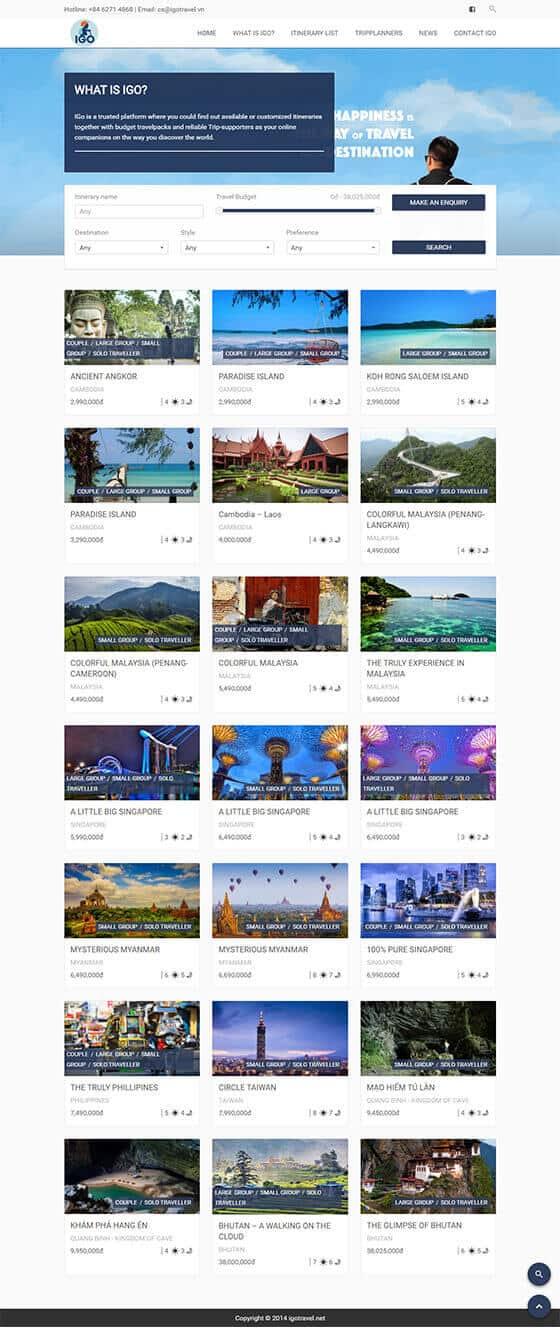 Mẫu website du lịch, khách sạn 01