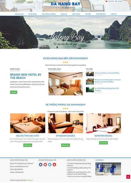 Mẫu website du lịch, khách sạn 02