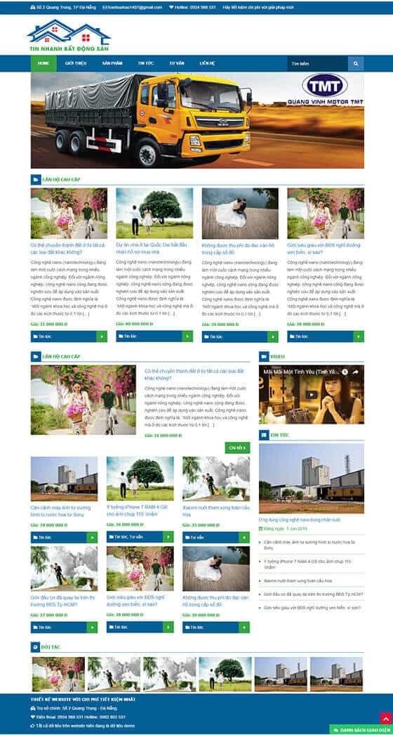 Mẫu website tin tức, bất động sản 01