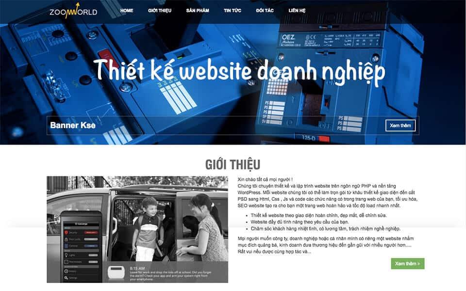 Thiết kế Website giới thiệu công ty khẳng định thương hiệu Việt