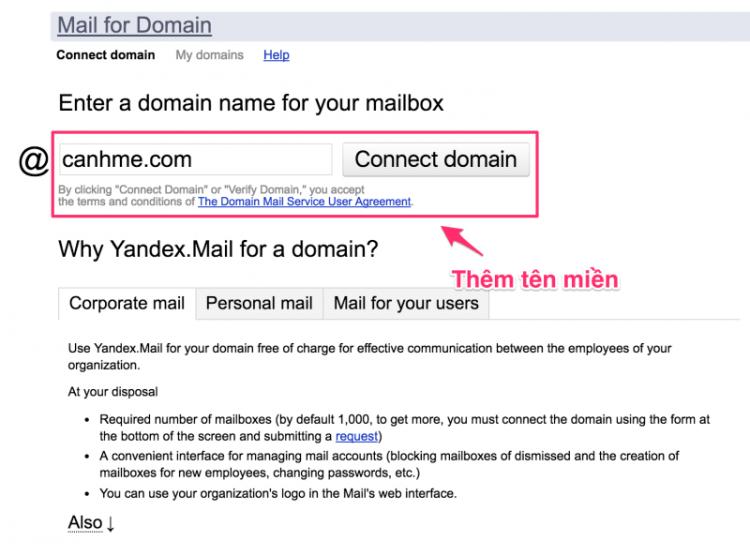 cac buoc tao mien phi ten mien email nhanh chong