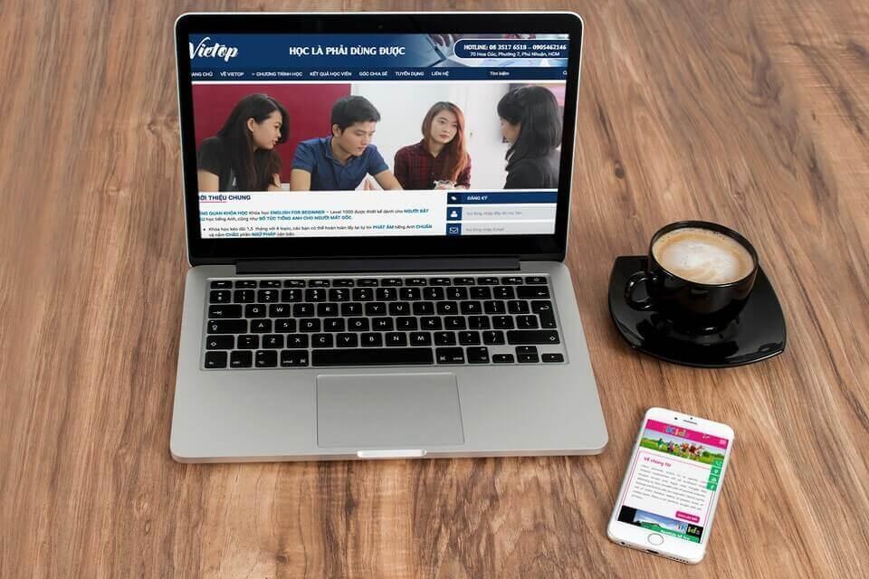 Giao diện website dành cho trường học, giáo dục