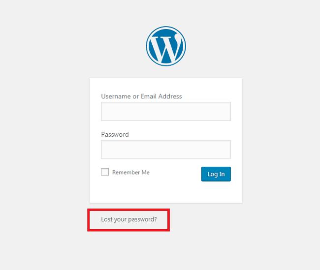 Làm thế nào để lấy lại tài khoản WordPress