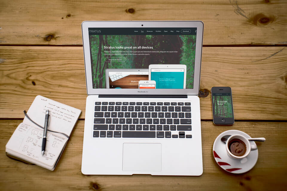 Mẫu giao diện giới thiệu doanh nghiệp IT 3