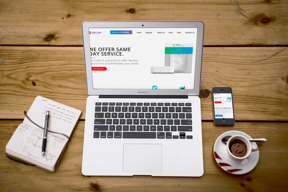 Mẫu giao diện giới thiệu doanh nghiệp IT 4