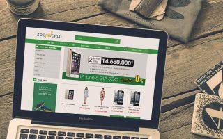 Mẫu web bán hàng đơn giản, hiện đại