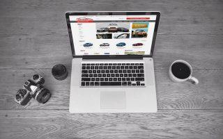Mẫu web giới thiệu, bán ô tô