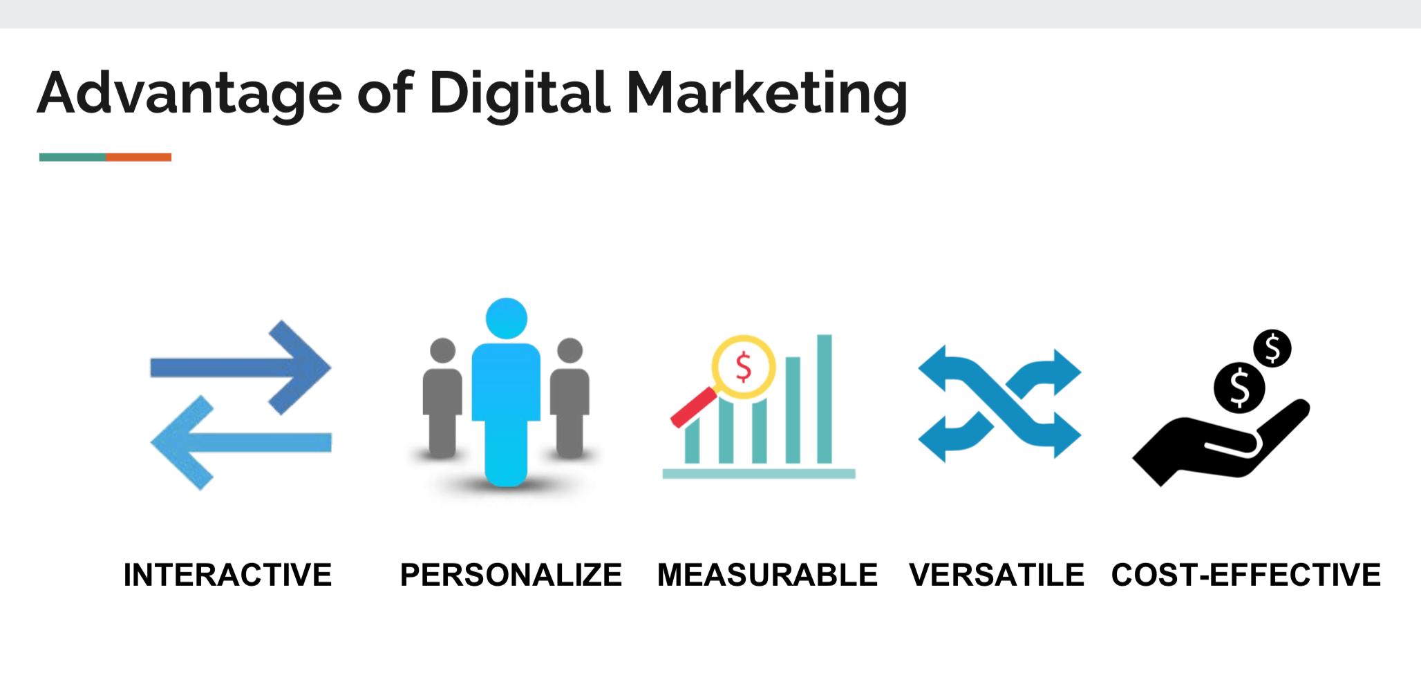 5 Lợi ích của Digital Marketing chủ đạo so với marketing truyền thống