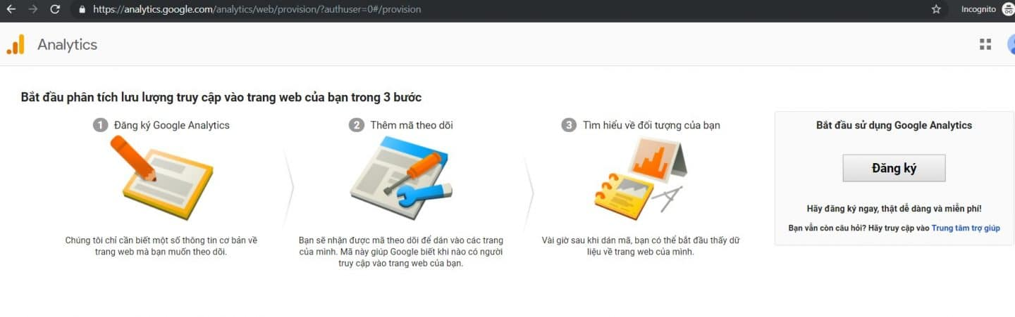 Tạo Google Analytics và Search Console