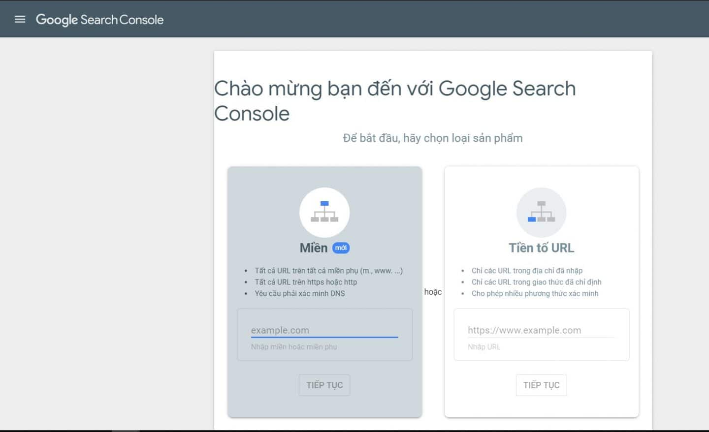 Search Console Phien Ban Moi