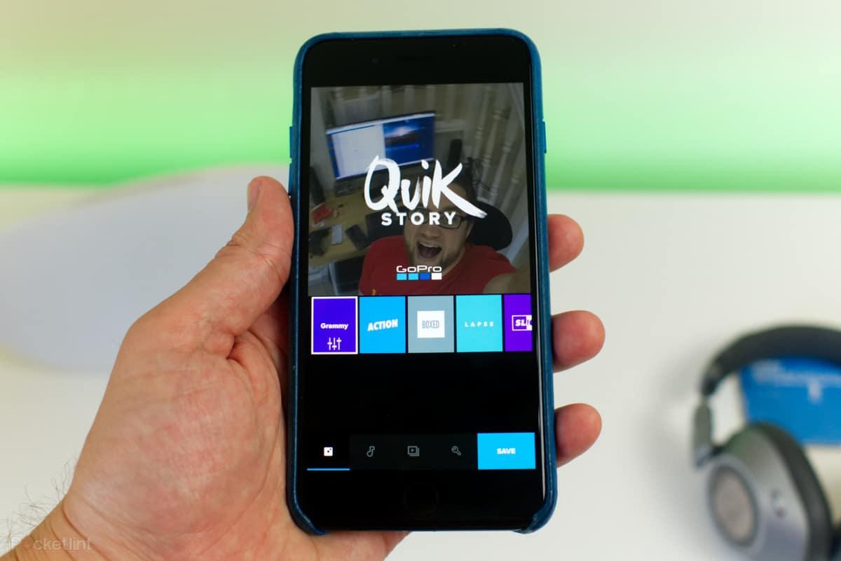 Phần mềm video chuyên nghiệp trên điện thoại Quik