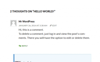 Noi Bat Comment Admin Wordpress