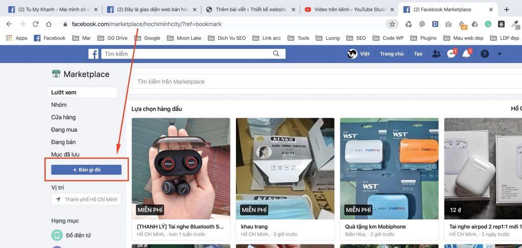 Dang Ban San Pham O Trang Ca Nhan Facebook 1