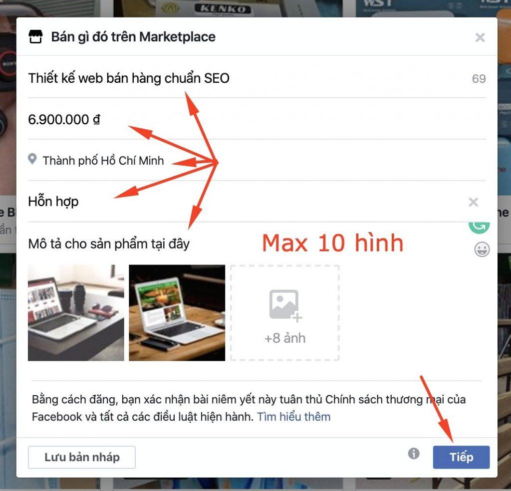 Dang Ban San Pham O Trang Ca Nhan Facebook 2