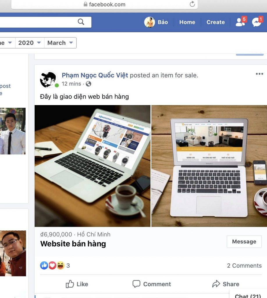 Dang Ban San Pham O Trang Ca Nhan Facebook 4
